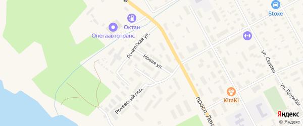Новая улица на карте Онеги с номерами домов