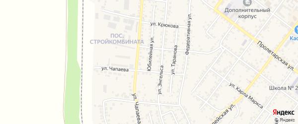Юбилейная улица на карте Валуек с номерами домов