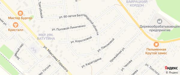 Улица Коротковой на карте Валуек с номерами домов