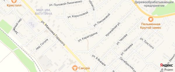Улица Карагодина на карте Валуек с номерами домов
