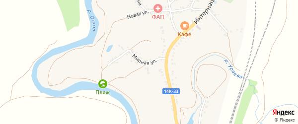Мирная улица на карте села Колыхалино с номерами домов