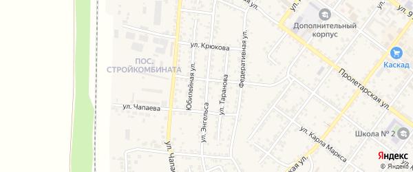 Улица Ф.Энгельса на карте Валуек с номерами домов