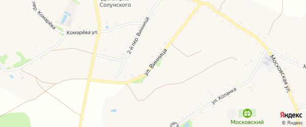 Улица Винница на карте села Хорошилово с номерами домов