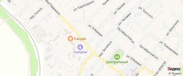 Переулок Чехова на карте Валуек с номерами домов