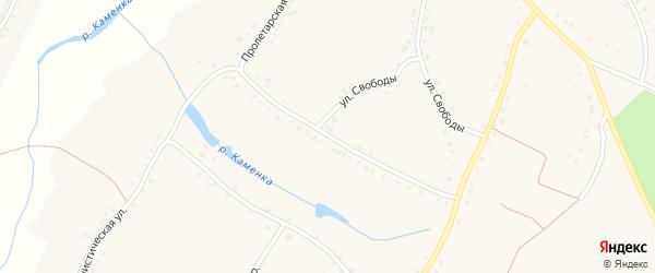 Пролетарская улица на карте села Городища с номерами домов