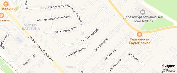 Улица Лакомовой на карте Валуек с номерами домов
