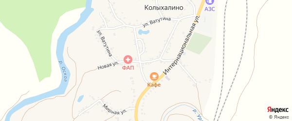 Новая улица на карте села Колыхалино с номерами домов