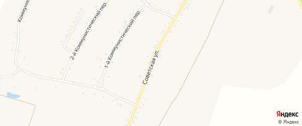 Советская улица на карте села Городища с номерами домов