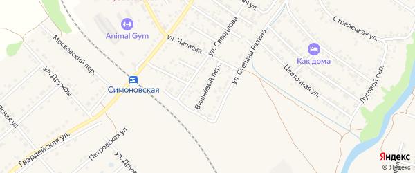Вишневый переулок на карте Валуек с номерами домов