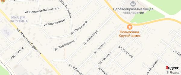 Урожайная улица на карте Валуек с номерами домов