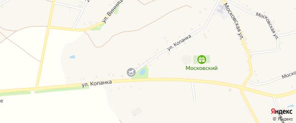 Улица Копанка на карте Архангельского села с номерами домов