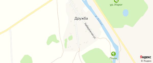 Сосновая улица на карте поселка Дружбы с номерами домов