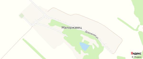 Дорожная улица на карте поселка Малоржавца с номерами домов