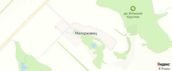 Карта поселка Малоржавца в Белгородской области с улицами и номерами домов