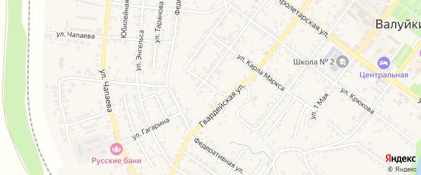 2-й Ямской переулок на карте Валуек с номерами домов