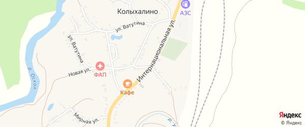 Интернациональная улица на карте села Колыхалино с номерами домов