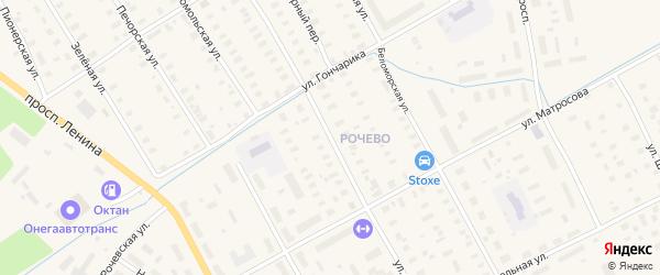 Улица Седова на карте Онеги с номерами домов
