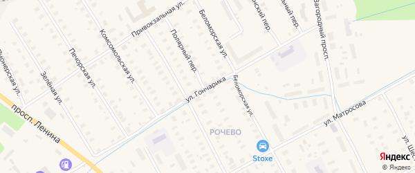 Улица Гончарика на карте Онеги с номерами домов