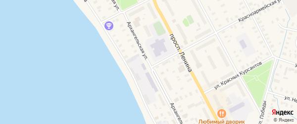 Архангельская улица на карте Онеги с номерами домов