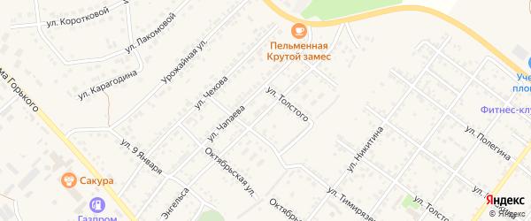 Лесная улица на карте Валуек с номерами домов