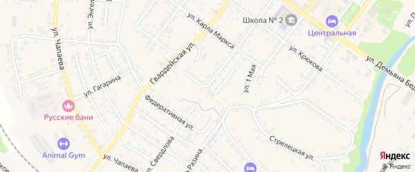 1-й Ямской переулок на карте Валуек с номерами домов