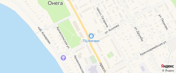 Проспект Ленина на карте Онеги с номерами домов