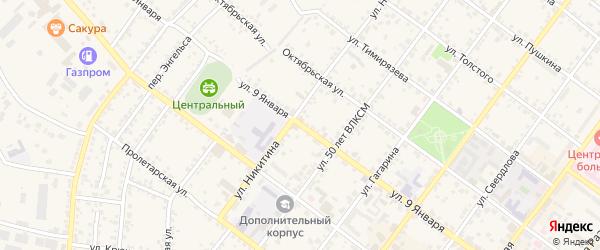Улица 9 Января на карте Валуек с номерами домов
