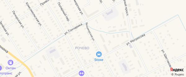 Беломорская улица на карте Онеги с номерами домов