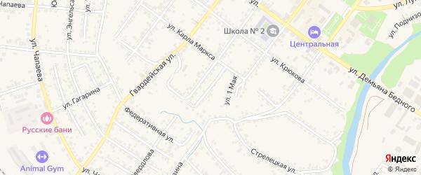 1-й Беловодский переулок на карте Валуек с номерами домов