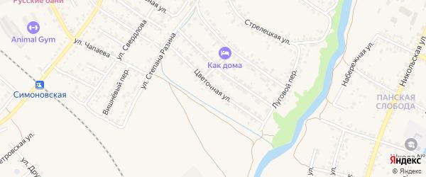 Цветочная улица на карте Валуек с номерами домов