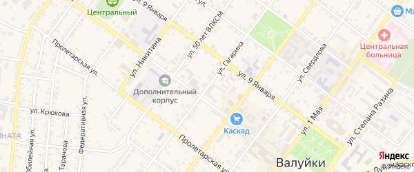 Улица Гагарина на карте Валуек с номерами домов