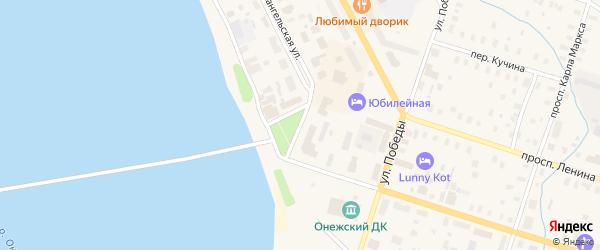 Улица Шаревского на карте Онеги с номерами домов