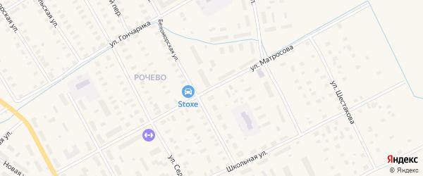 Улица Матросова на карте Онеги с номерами домов