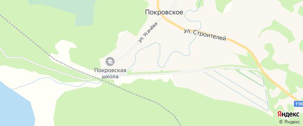 Карта поселка Покровского в Архангельской области с улицами и номерами домов