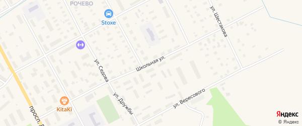 Школьная улица на карте Онеги с номерами домов