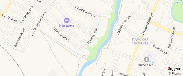 Луговой переулок на карте Валуек с номерами домов