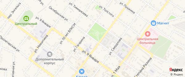 Октябрьская улица на карте Валуек с номерами домов