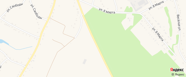 Улица Мичурина на карте села Городища с номерами домов