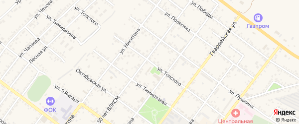 Улица Толстого на карте Валуек с номерами домов