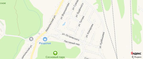 Переулок Кондрашова на карте Валуек с номерами домов