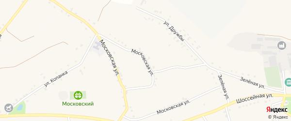 Московская улица на карте Архангельского села с номерами домов