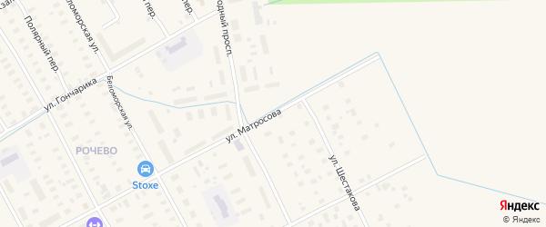 Загородный проспект на карте Онеги с номерами домов