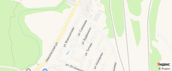 Улица Буденного на карте Валуек с номерами домов