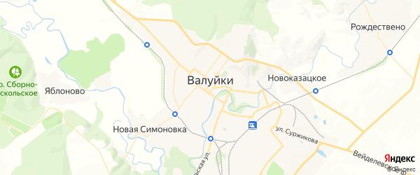 Карта Валуек с районами, улицами и номерами домов