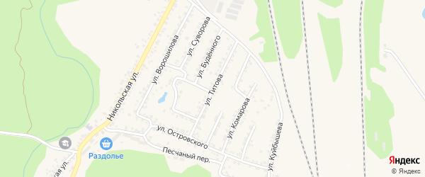 Улица Титова на карте Валуек с номерами домов