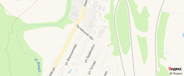 Путейский переулок на карте Валуек с номерами домов