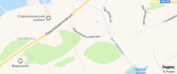 Революционный переулок на карте села Городища с номерами домов