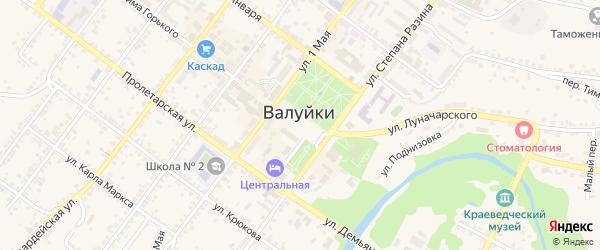 Красная площадь на карте Валуек с номерами домов