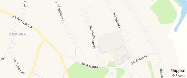 Молодежная улица на карте села Городища с номерами домов