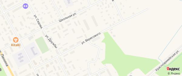 Улица Вересового на карте Онеги с номерами домов
